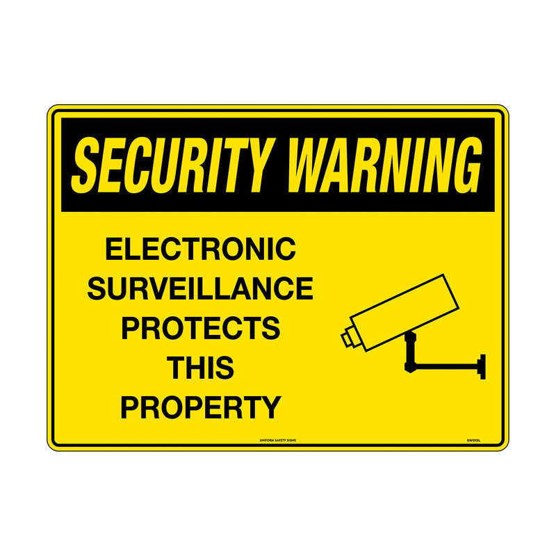Security Warning Electronic Surveillance Protects This Property