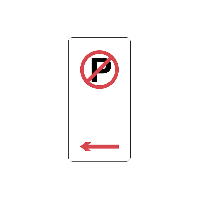 No Parking Symbol with left arrow