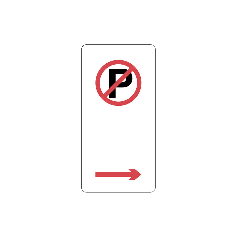 No Parking Symbol with right arrow