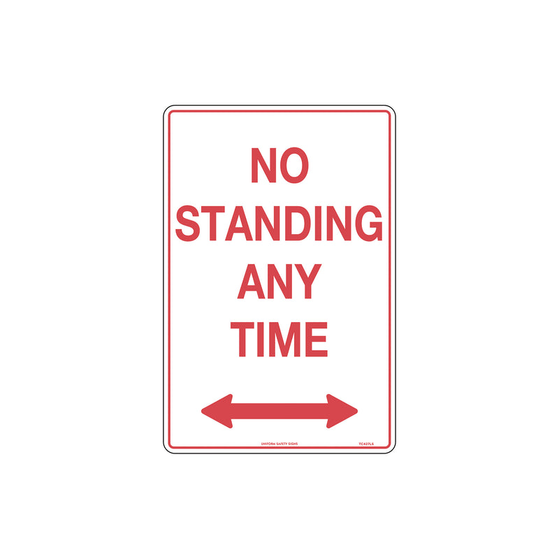 No Standing Any Time with Double Arrows