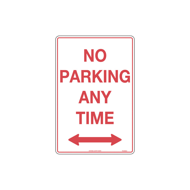 No Parking Any Time with Double Arrows
