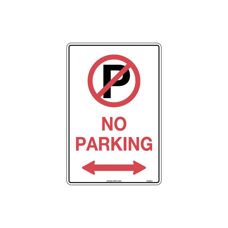 No Parking (With Double Arrows And Symbol)