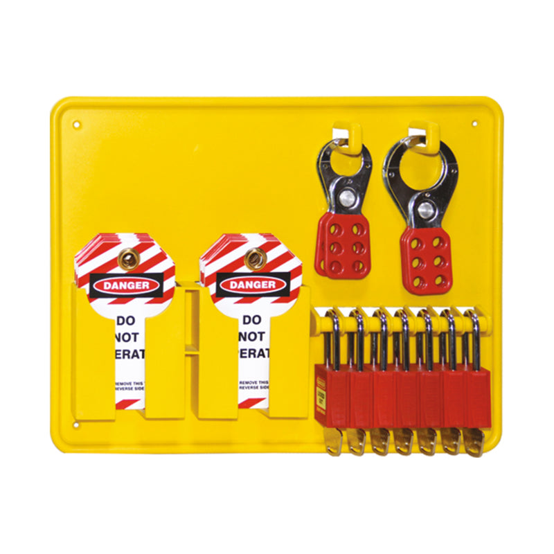 Includes 6 Premium Red Locks (UL418), 2 x 25mm Hasp (UL420), 2 x 38mm Hasp (UL421), 1 x Pkt UDT300, x 1 UL306 (Empty Station)