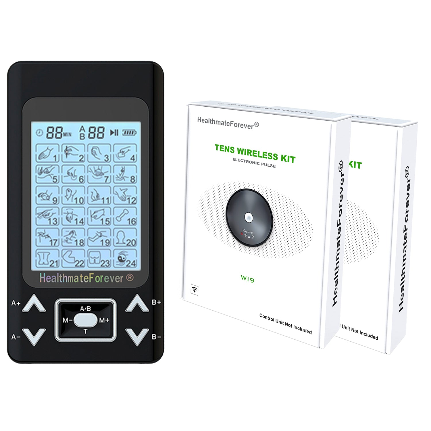 2020 Version 24 Modes PRO24AB2 TENS unit & Muscle Stimulator - HealthmateForever
