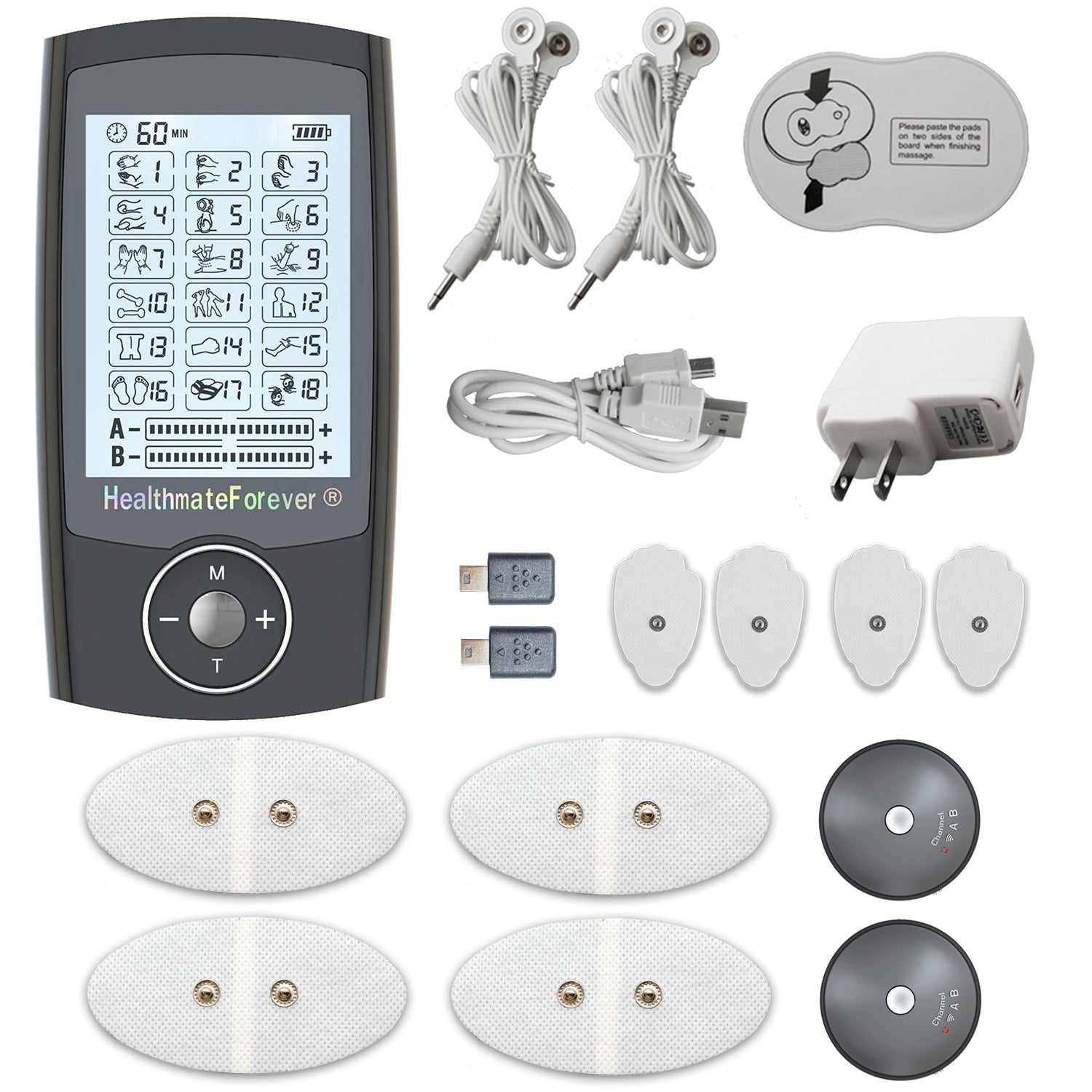 PRO18AB Pain Relief TENS Unit & Muscle Stimulator - 2 Year Warranty - HealthmateForever