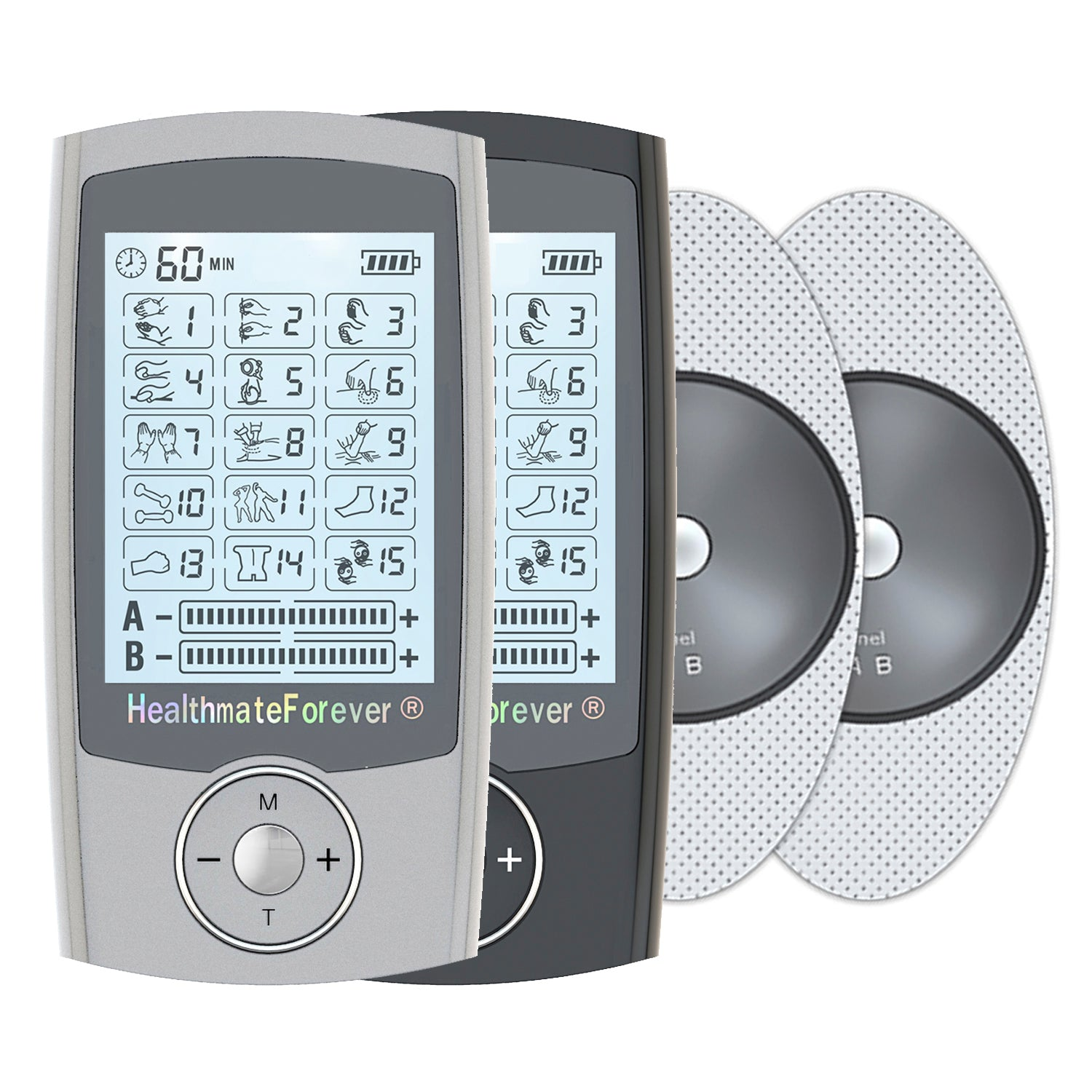 PRO15AB Pain Relief TENS Unit & Muscle Stimulator - 2 Year Warranty - HealthmateForever.com