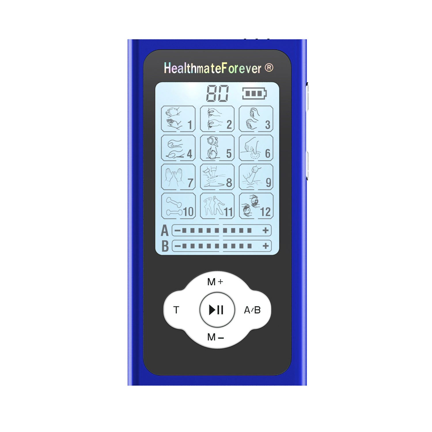 PRO12ABQ Portable Palm Size Electronic Pulse Pain Relief TENS UNIT - HealthmateForever