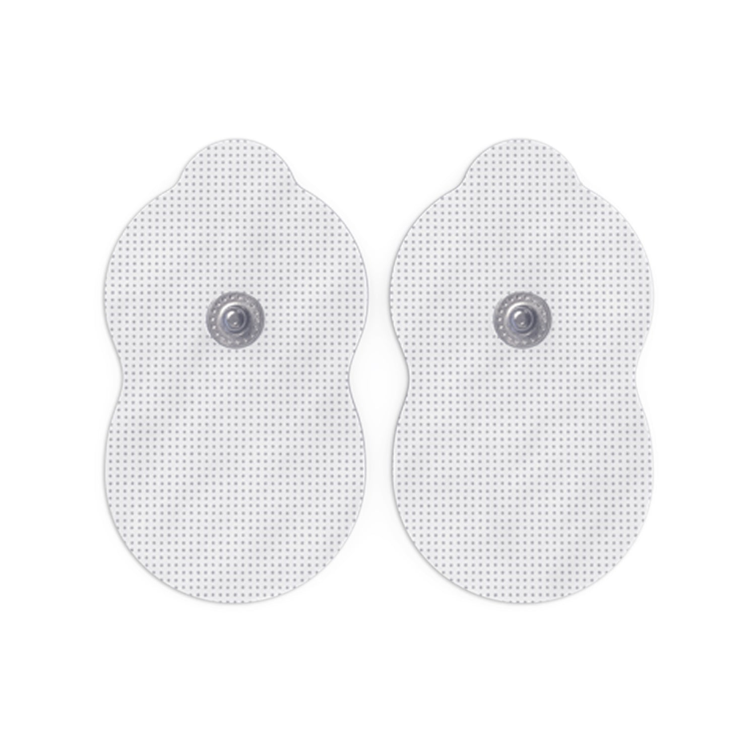 5 Pairs (10 Pcs) White Pair of Snap-On Large Gourd-Shaped Electrode Patches Pads - HealthmateForever