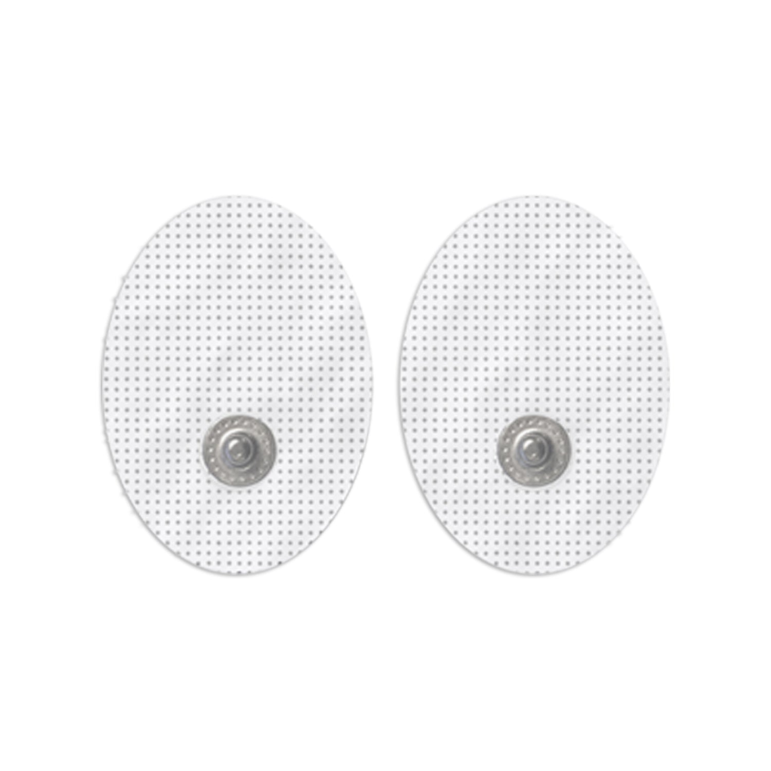 20 Pairs (40 Pcs) White Pair of Snap-On Small Oval-Shaped Electrode Patches Pads - HealthmateForever