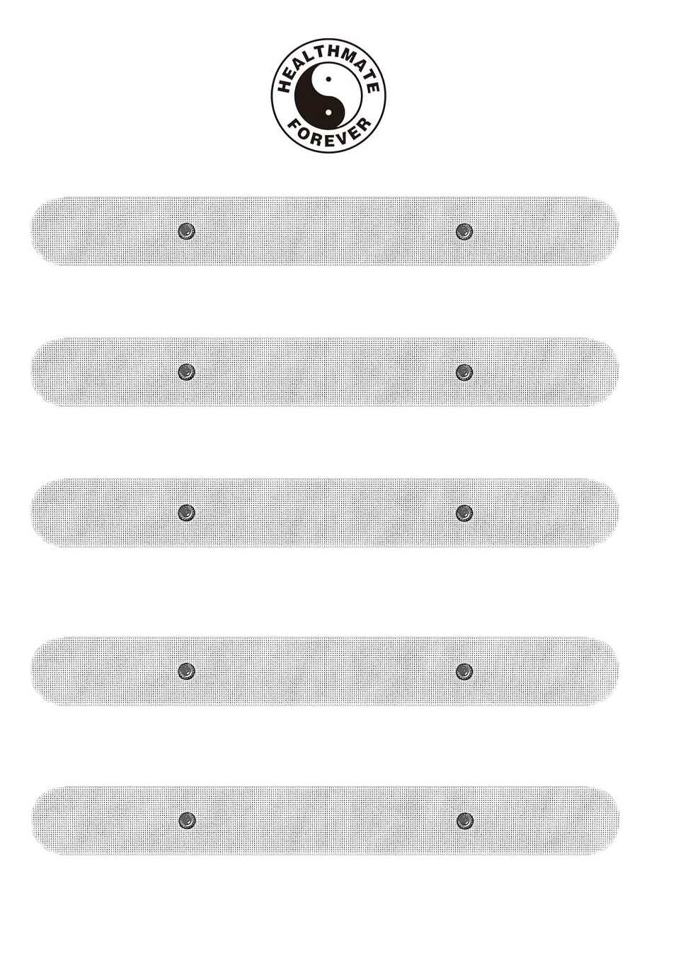 5 Pcs White Snap-On Long Strip Electrode Patches Pads - HealthmateForever.com