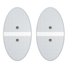White Large Oval Pads For Wi9 - HealthmateForever
