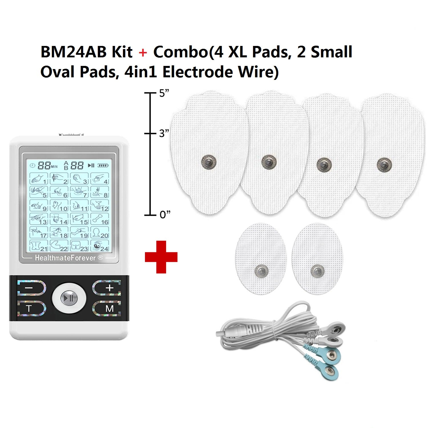 2020 Version 24 Modes BM24AB TENS unit & Muscle Stimulator - HealthmateForever