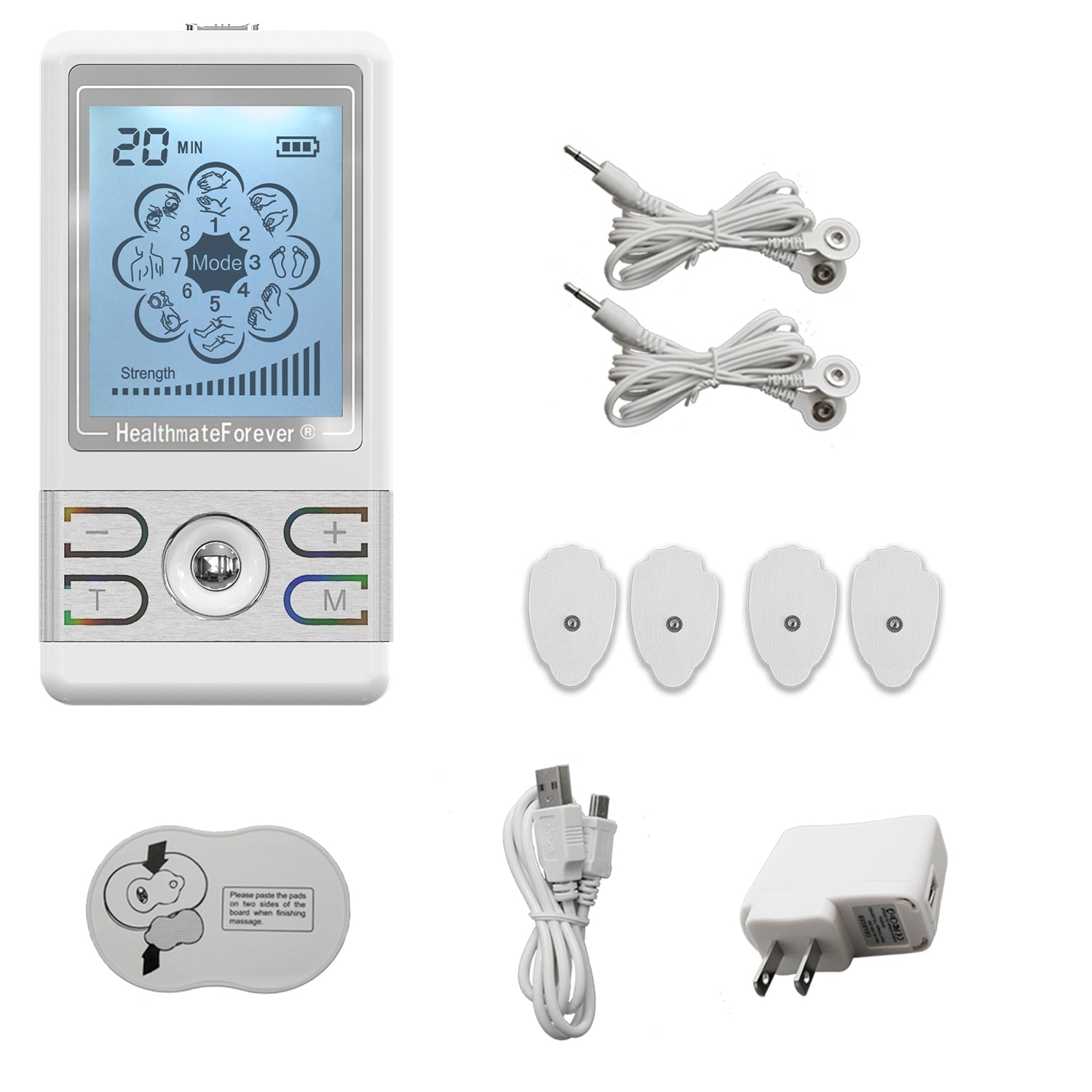 Free Massage Belt + BM8ML TENS Unit & Muscle Stimulator - HealthmateForever.com