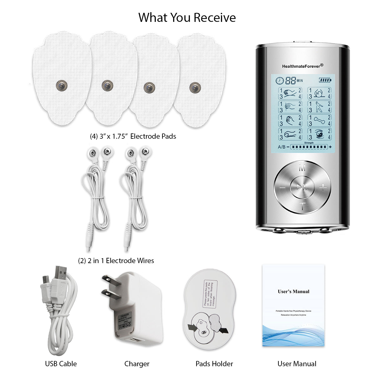 New Arrival - 2020 Version 32 Modes HM32AB TENS Unit & Muscle Stimulator - HealthmateForever