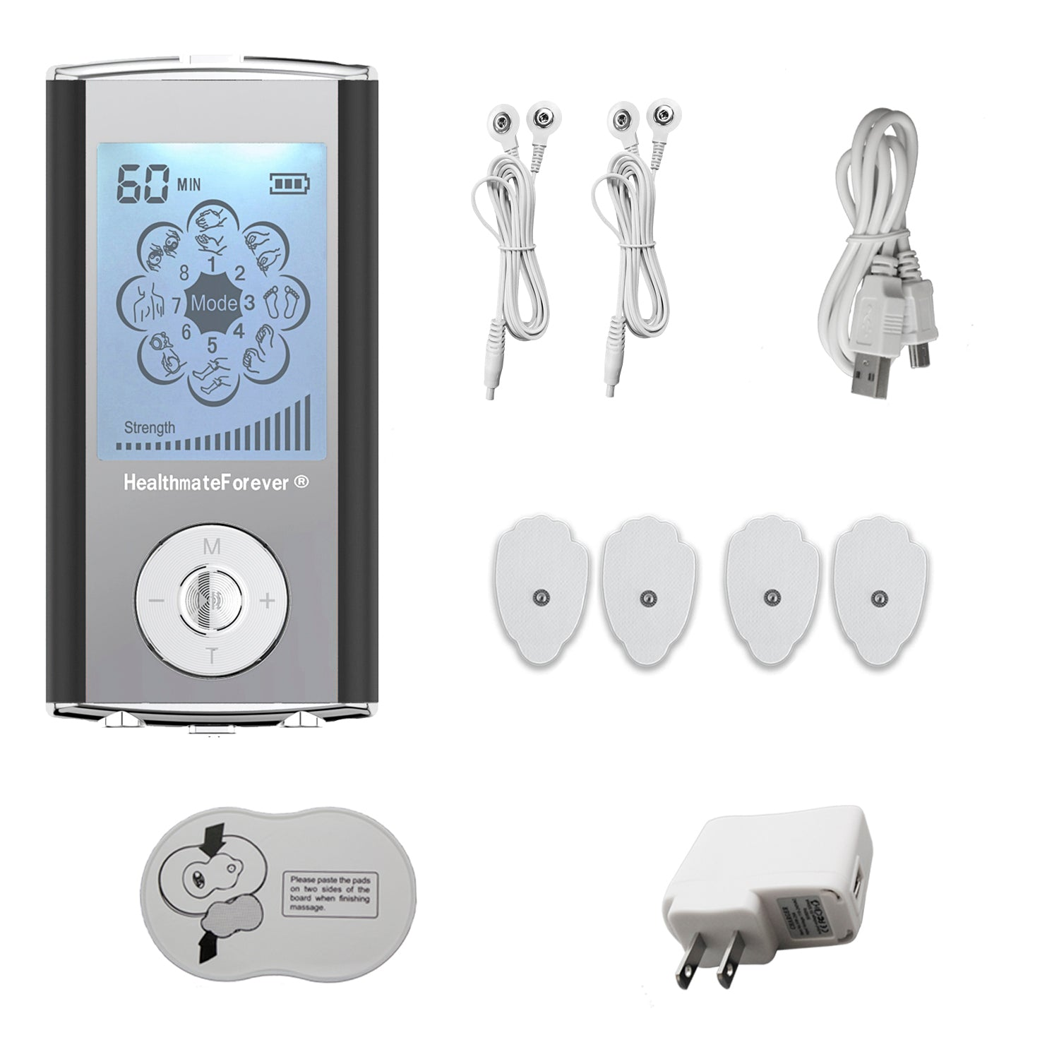 HM8ML Best Portable Smart Electro Pain Relief TENS UNIT - HealthmateForever.com