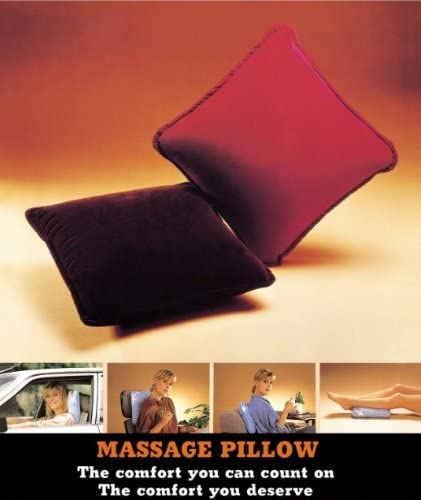 Pressure Activated Massage Pillow Burgundy - HealthmateForever.com