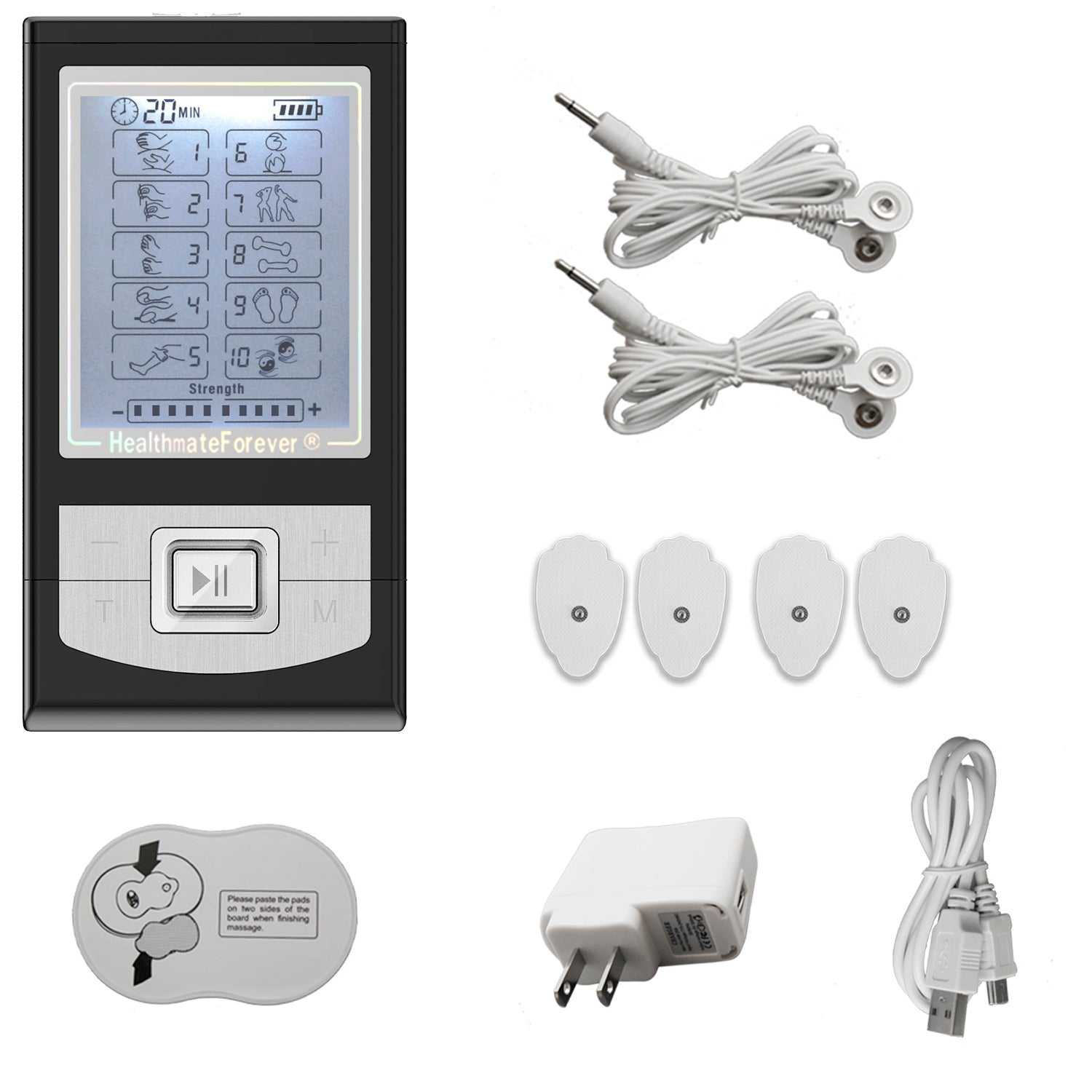 Dent & Scatch NK10GL TENS Unit & Muscle Stimulator - HealthmateForever