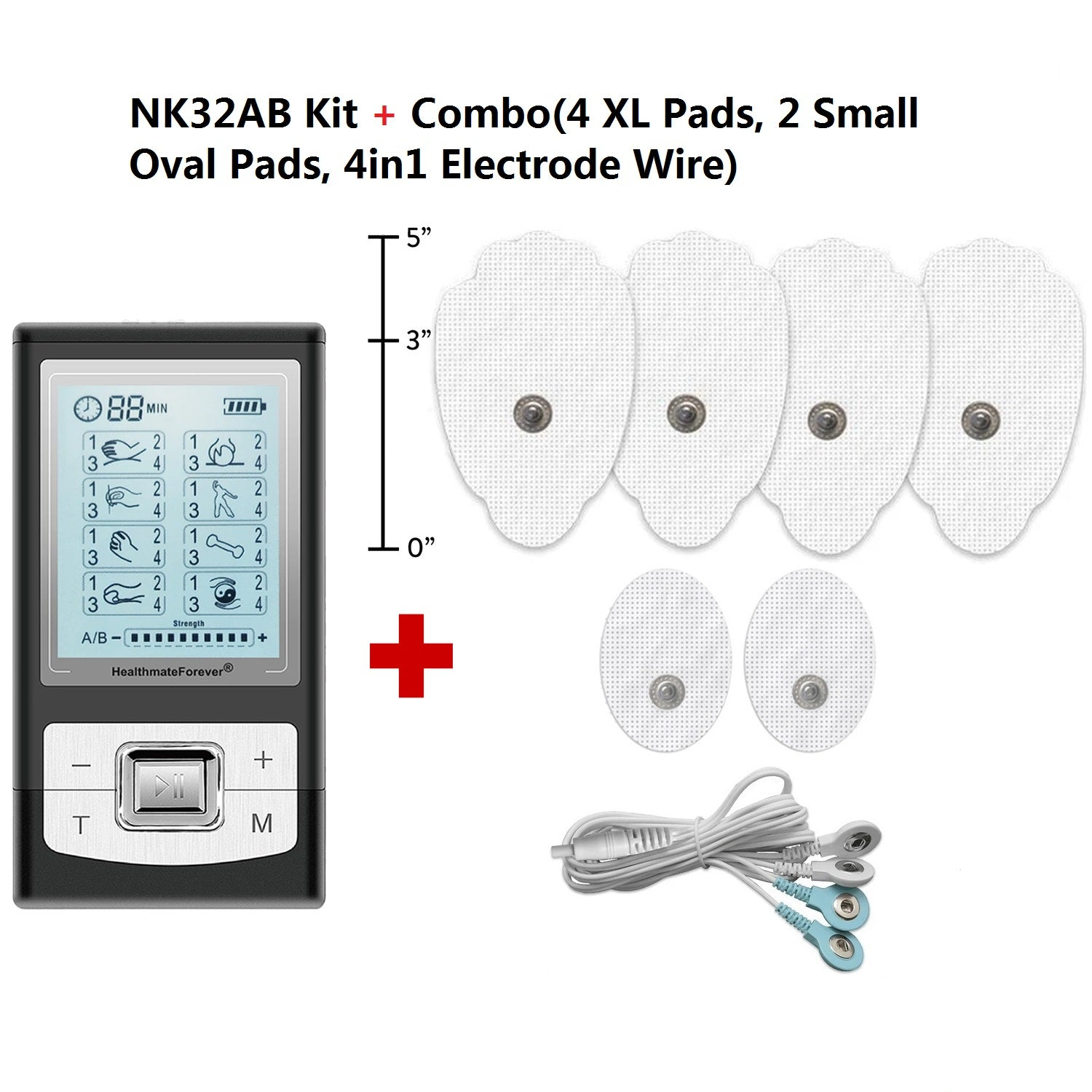 New Arrival - 2020 Version 32 Modes NK32AB TENS Unit & Muscle Stimulator - 2 Year Warranty - HealthmateForever