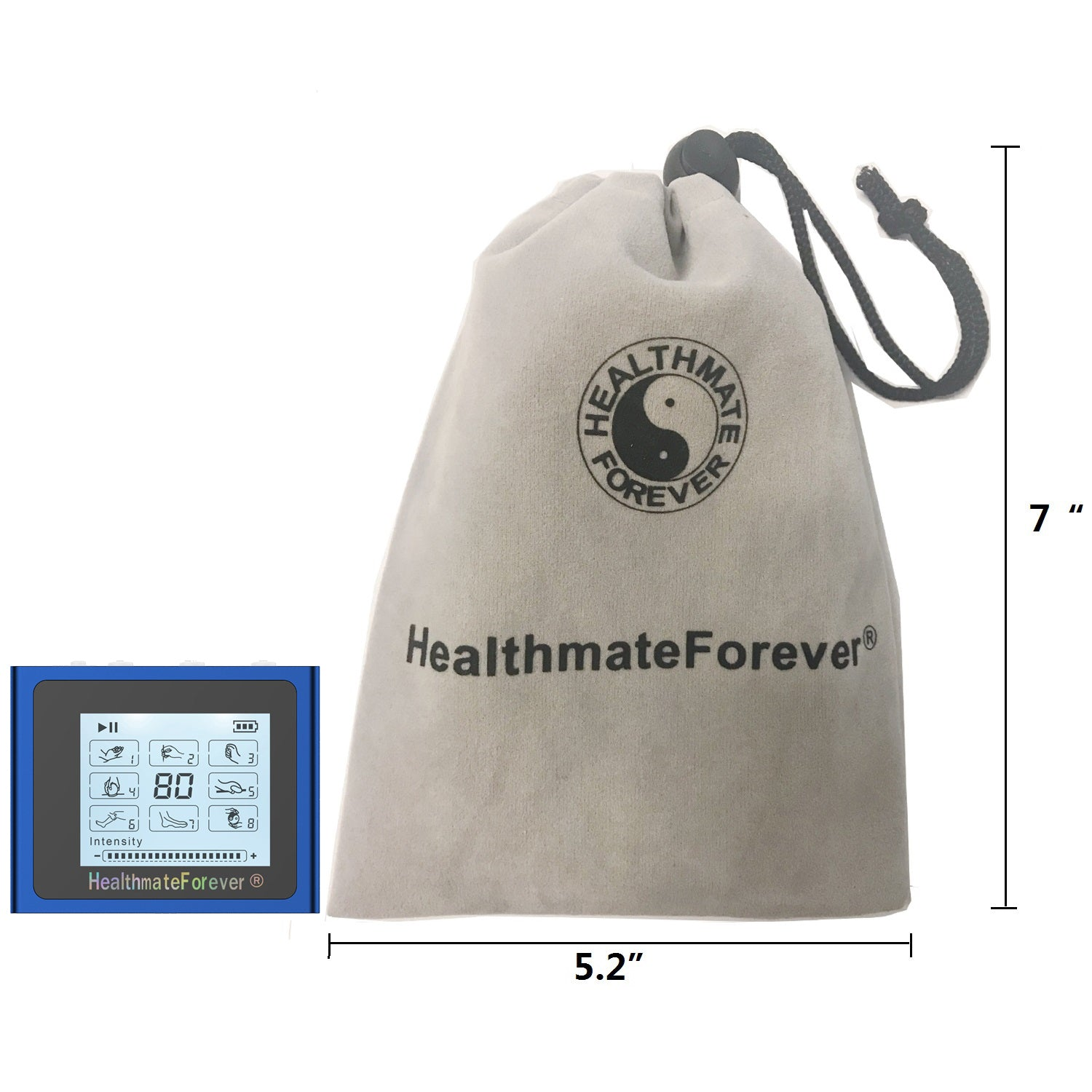 NTS8 TENS Unit & Muscle Stimulator with Free Wrist Band - HealthmateForever.com