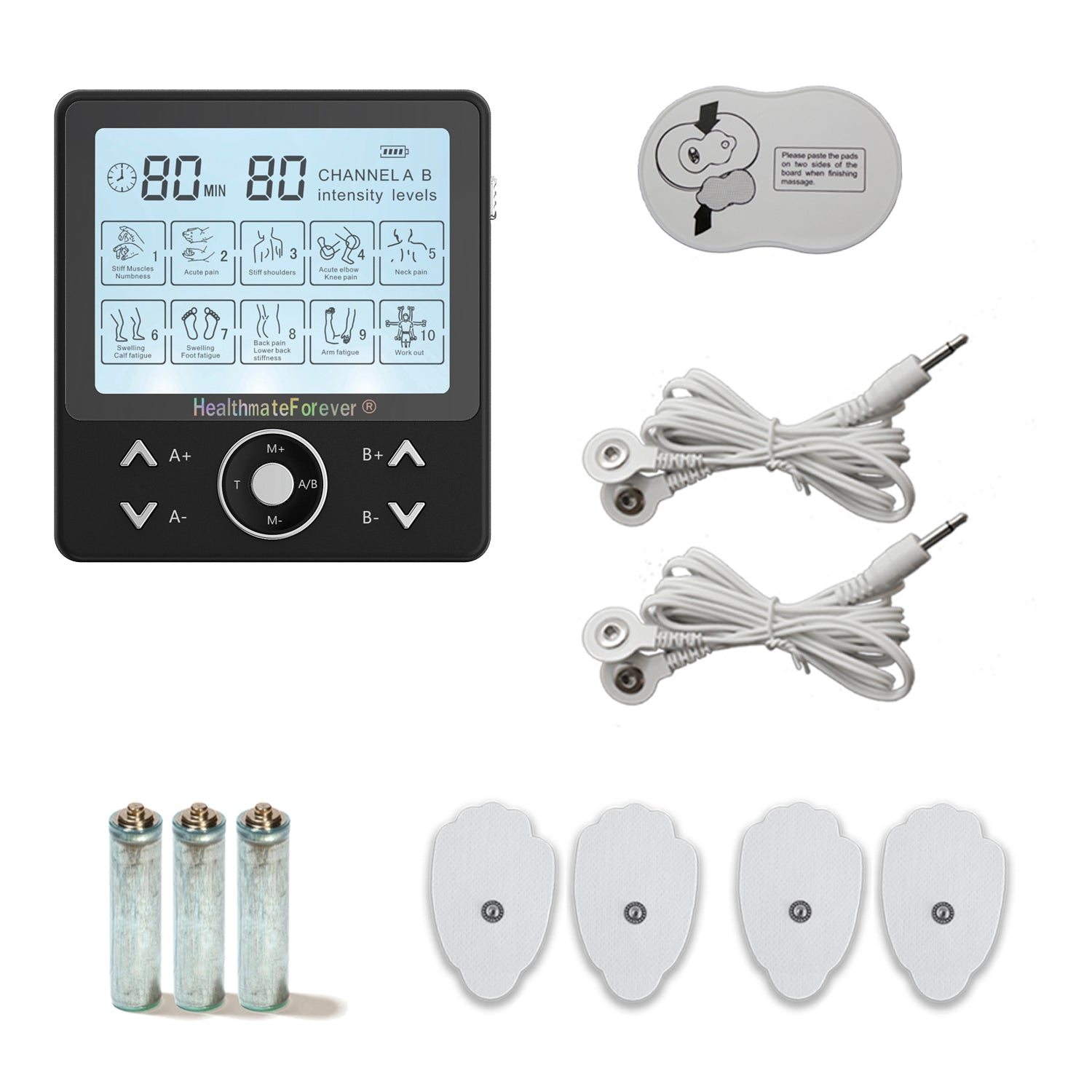 Free Massage Belt + Pro10AB2C TENS Unit & Muscle Stimulator - HealthmateForever