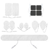 Assorted White Pin-Insert Replacement Electrode Pads Combo - HealthmateForever