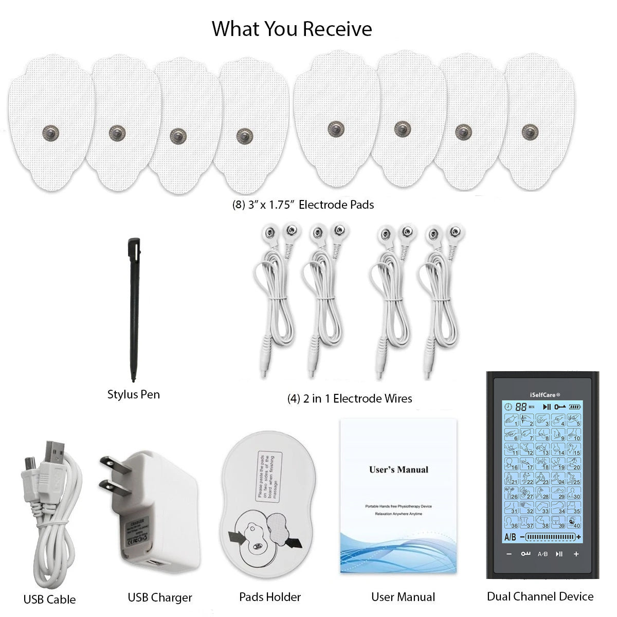 2020 Version 40 Modes T40AB2 iSelfCare® TENS unit & Muscle Stimulator - 2 Year Warranty - HealthmateForever