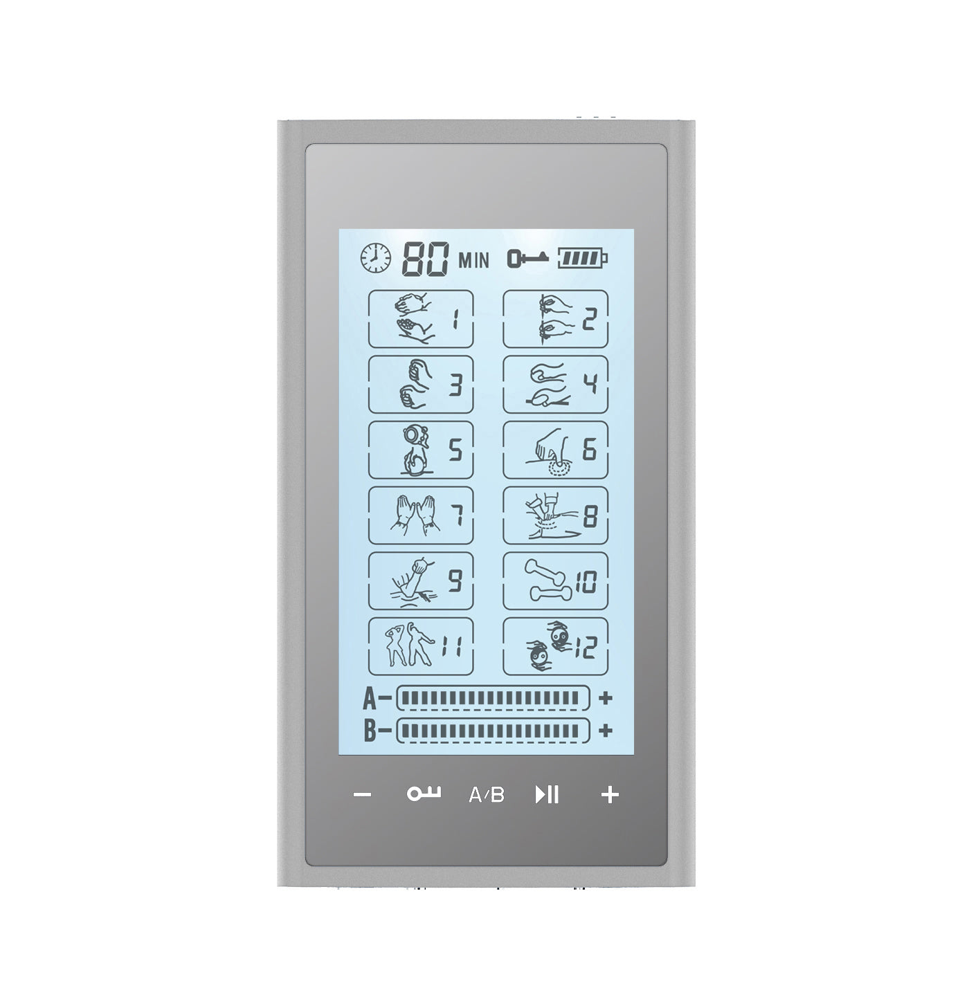 Touch Screen T12AB2 TENS Unit & Muscle Stimulator - 2 Year Warranty - HealthmateForever