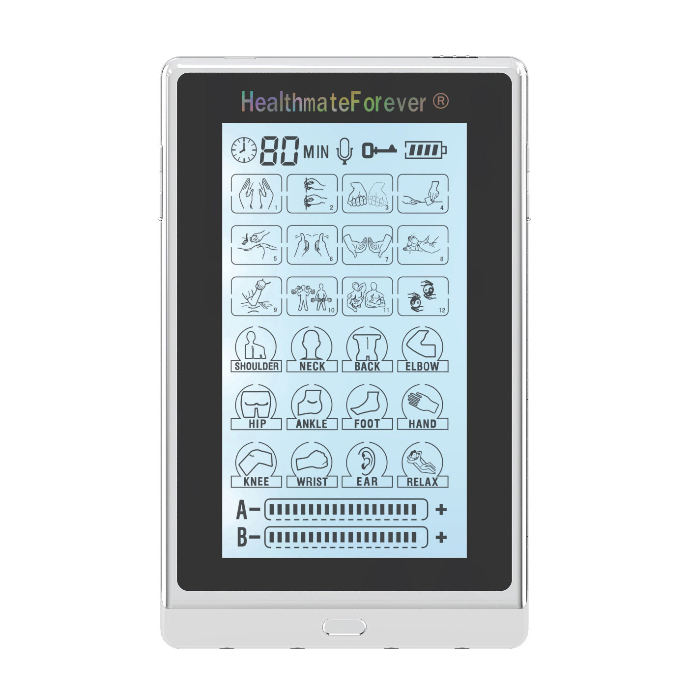 "2020 Version 6"" Touch Screen T24AB3 TENS Unit & Muscle Stimulator - 2 Year Warranty - HealthmateForever.com"