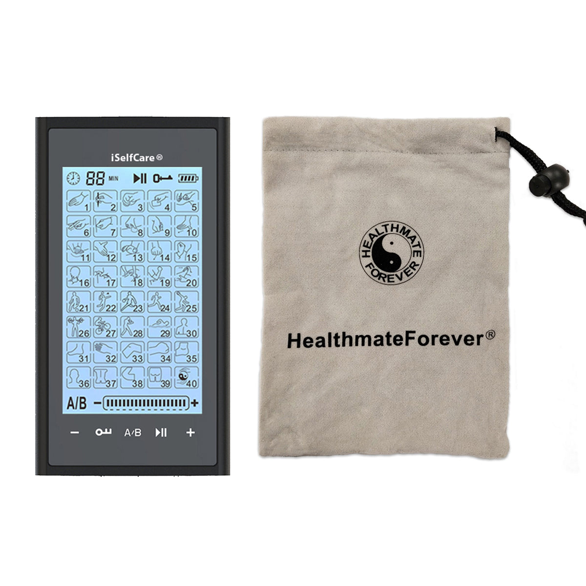 2020 Version 40 Modes T40AB2 iSelfCare® TENS unit & Muscle Stimulator - 2 Year Warranty - HealthmateForever.com
