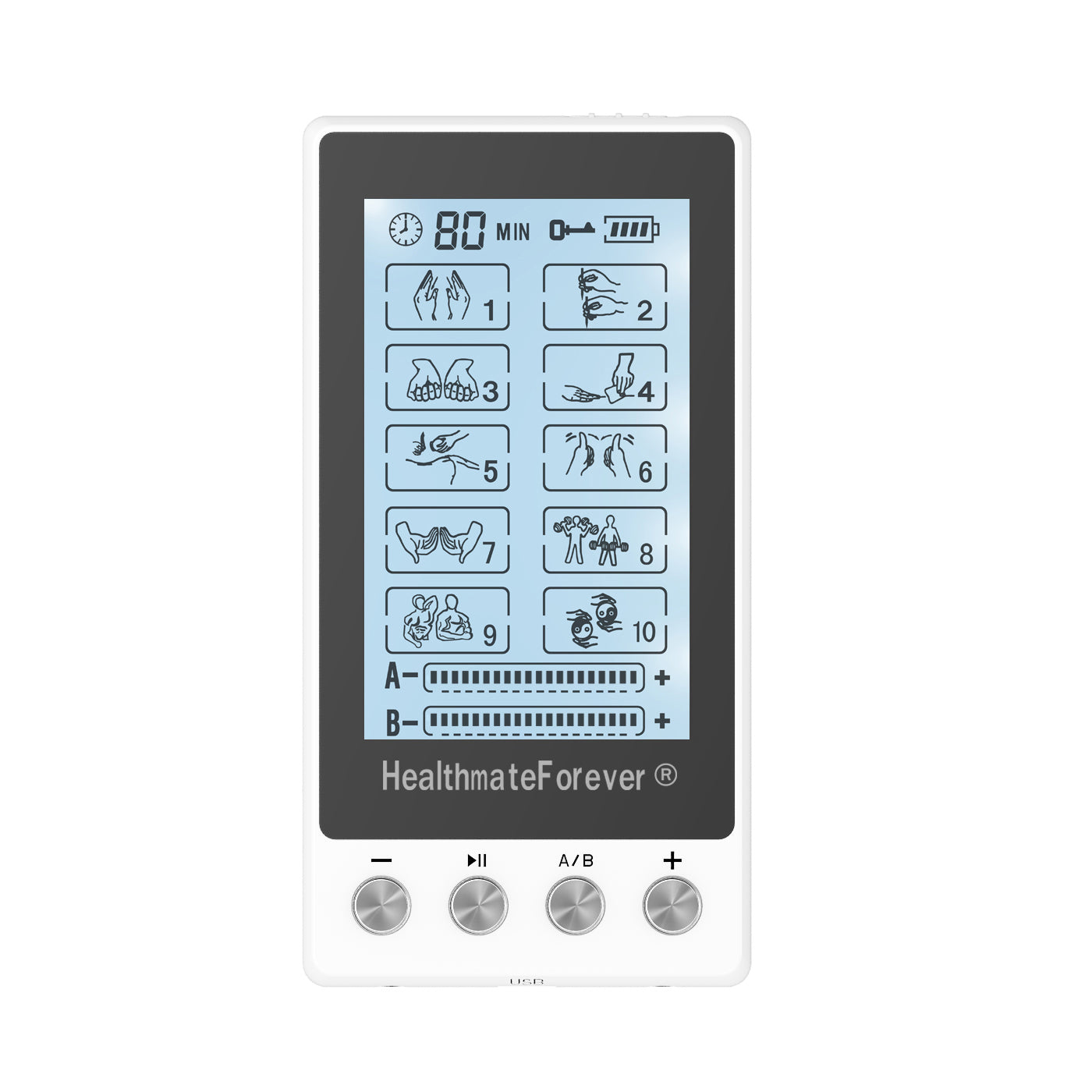 Touch Screen TS10AB TENS Unit & Muscle Stimulator - HealthmateForever