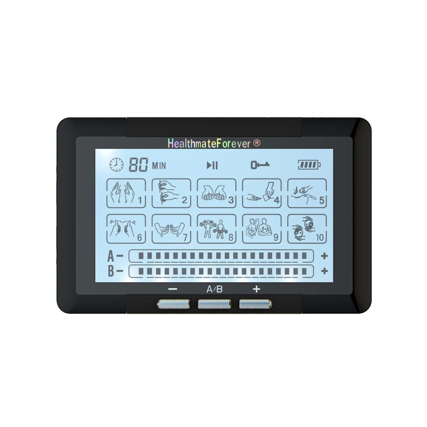 Touch Screen TS10ABH TENS Unit & Muscle Stimulator - HealthmateForever