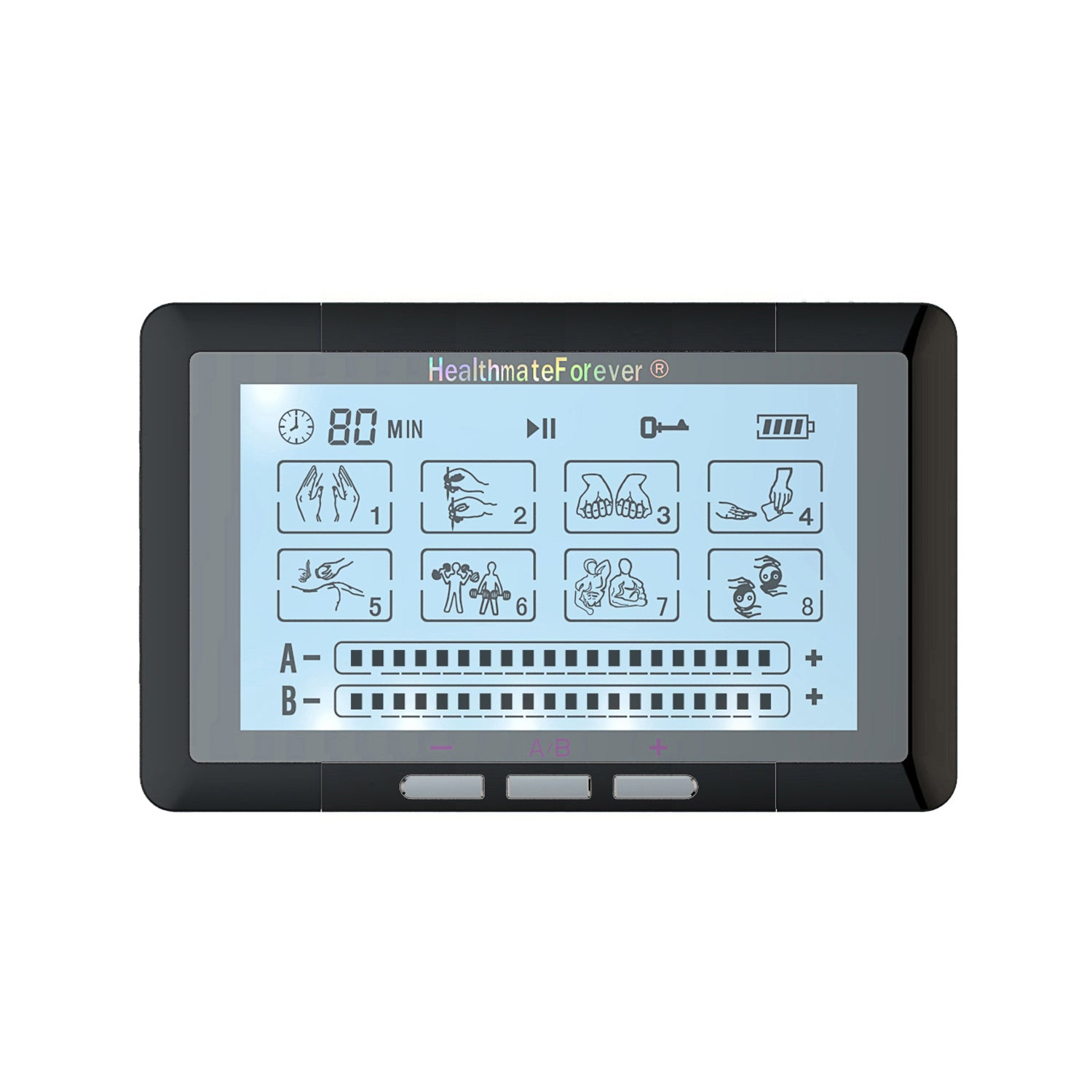 Touch Screen TS8ABH TENS Unit & Muscle Stimulator - HealthmateForever