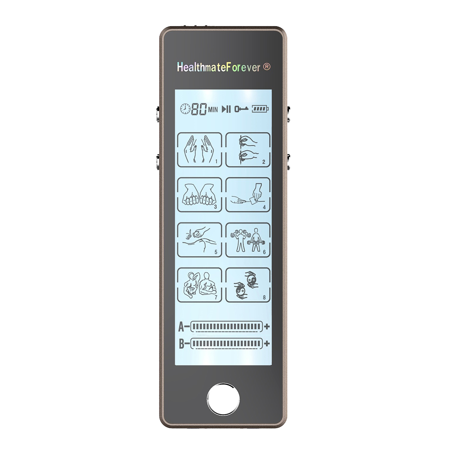 Touch Screen TS8ABV TENS Unit & Muscle Stimulator - HealthmateForever