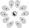 5 Pairs (10 Pcs) White Snap-On Large Hand-Shaped Electrode Patches Pads - HealthmateForever