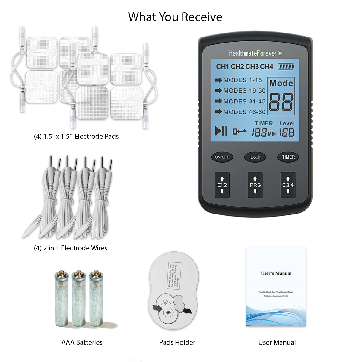 New Arrival - 2020 Version ZT60AB Powerful Electrotherapy Pain Relief TENS UNIT - 2 Year Warranty - HealthmateForever