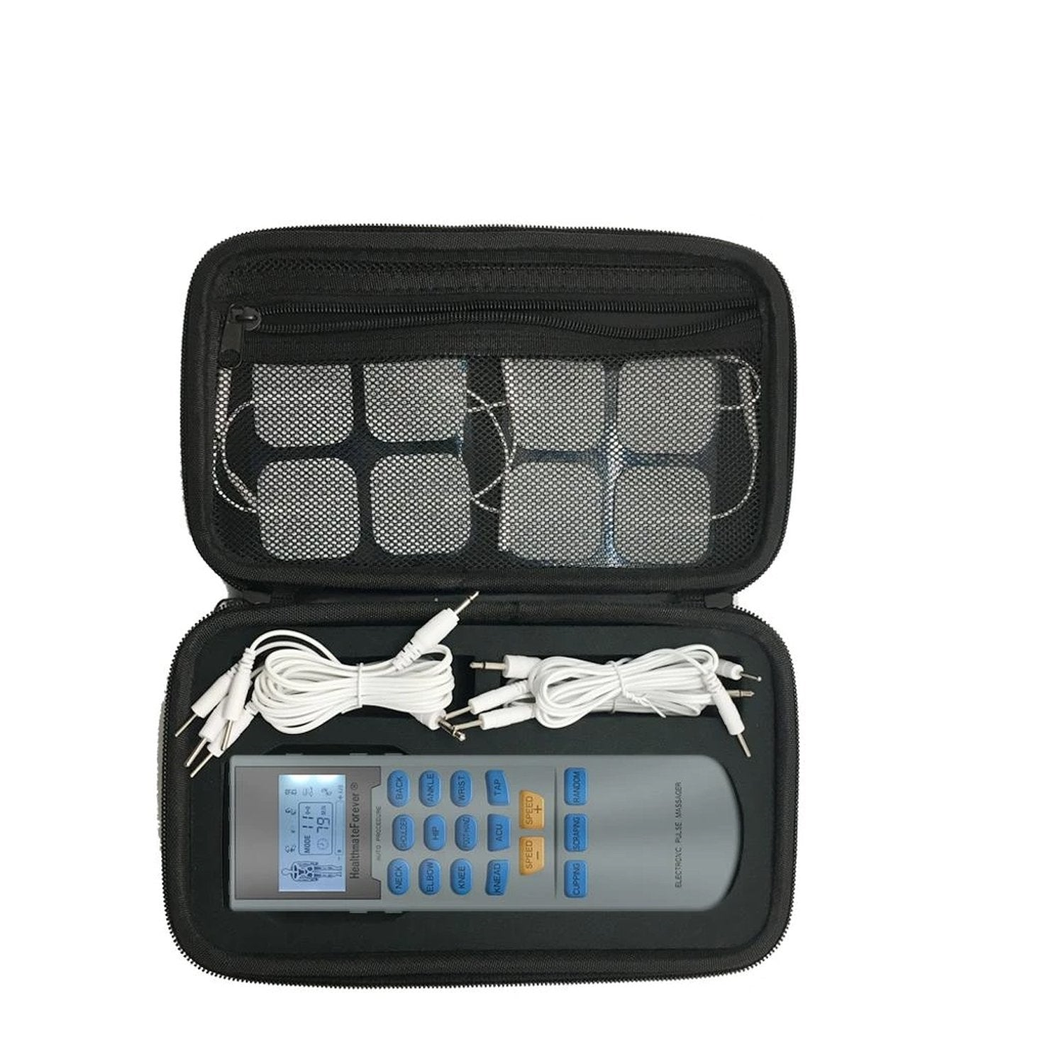 YK15AB Pain Relief TENS UNIT & Muscle Stimulator, 4 outputs, apply 8 pads at the same time - HealthmateForever