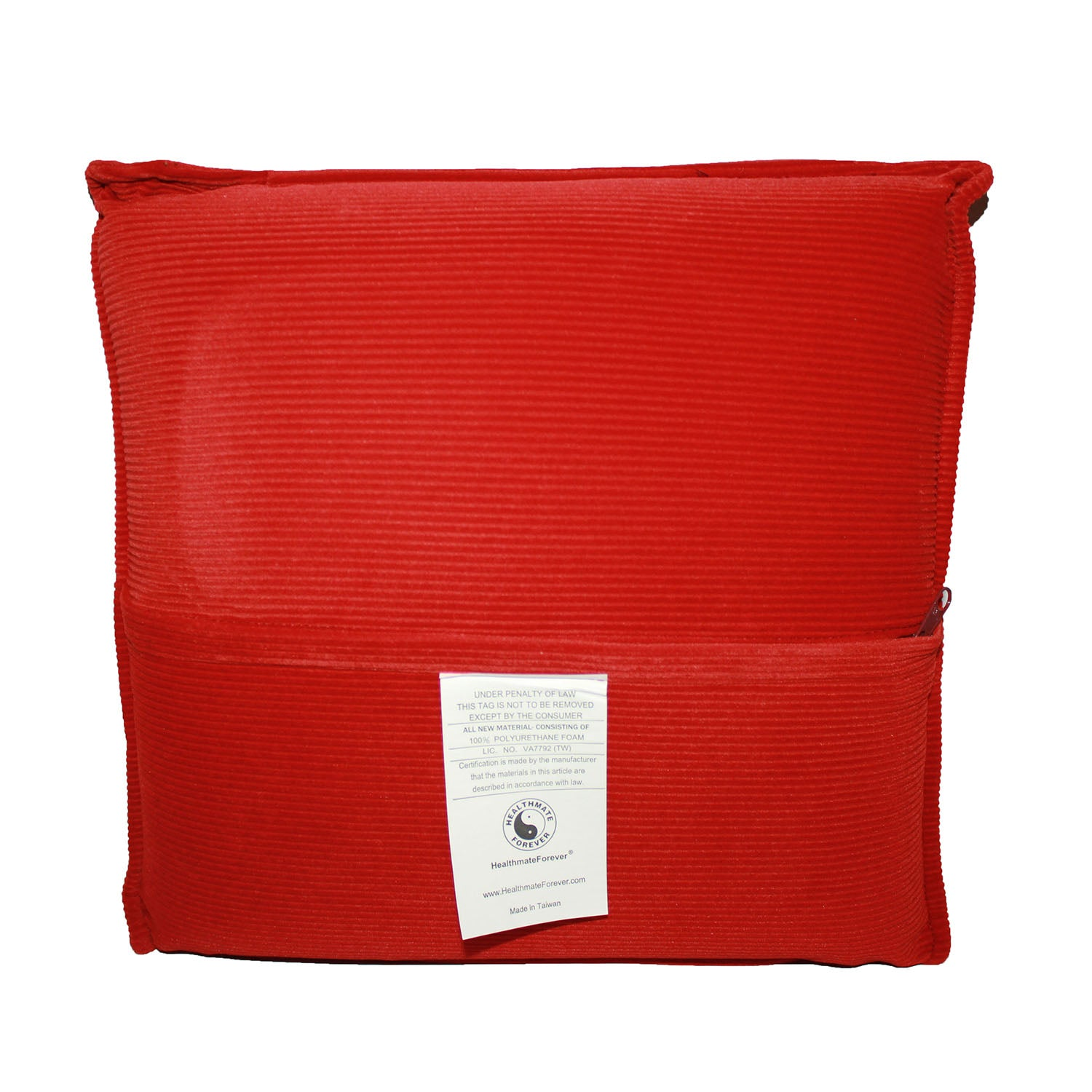 Pressure Activated Massage Pillow Brick Red - HealthmateForever.com