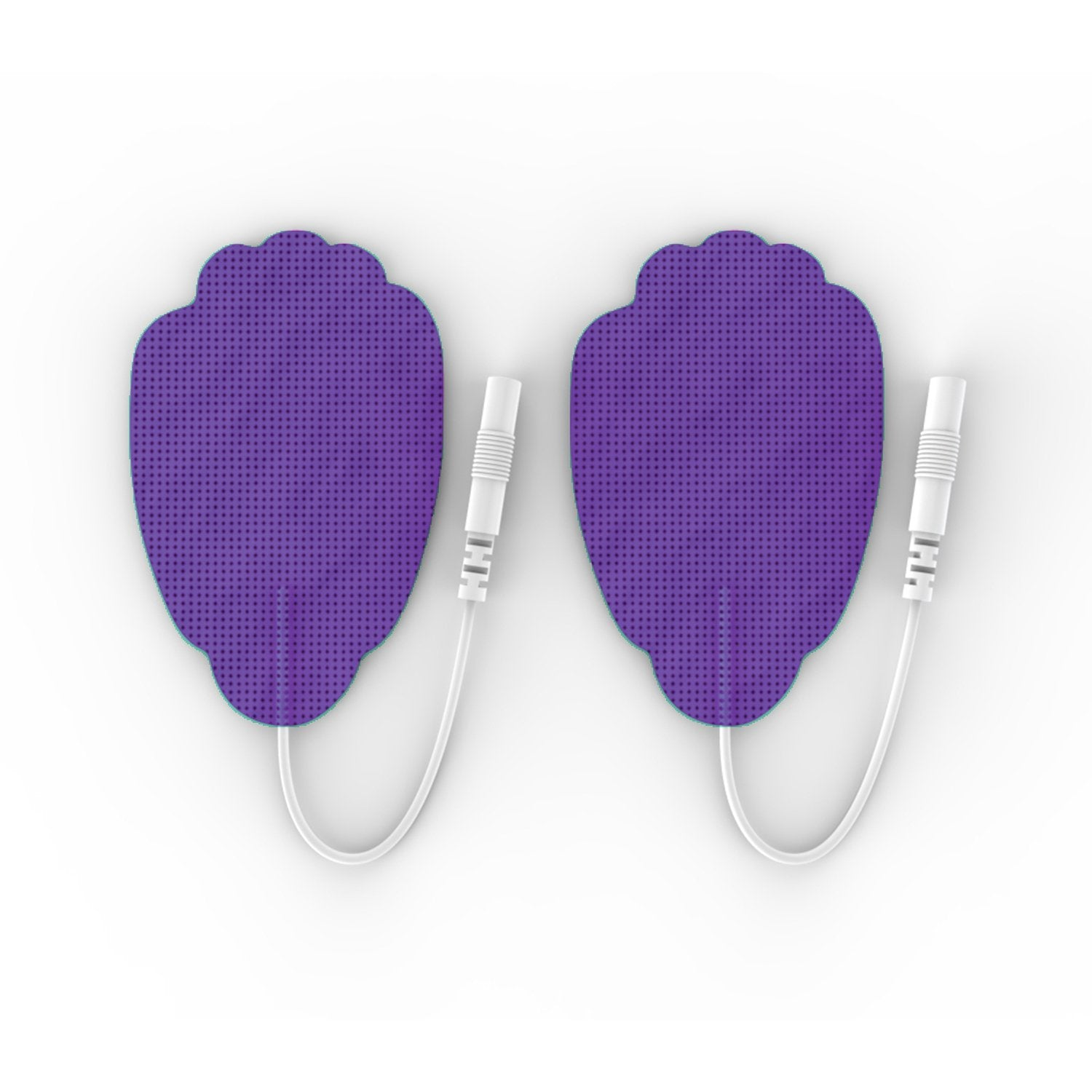 10 Pairs (20 Pcs) Purple Pin-Insert Large Hand-Shaped Electrode Patches Pads - HealthmateForever