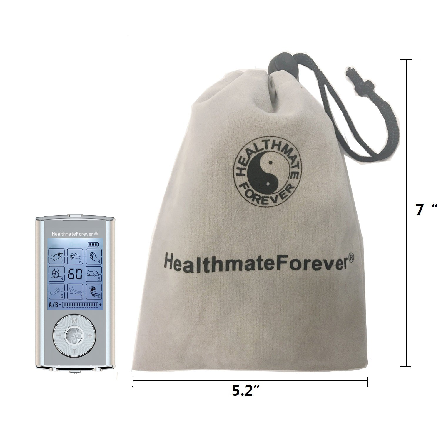 HM8AB TENS Unit & Muscle Stimulator, two independent AB channels like 2in1 machine - HealthmateForever