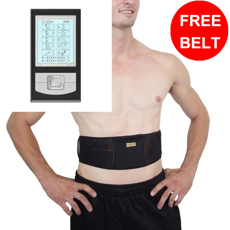 Free Message Belt + NK10AB TENS Unit & Muscle Stimulator - HealthmateForever
