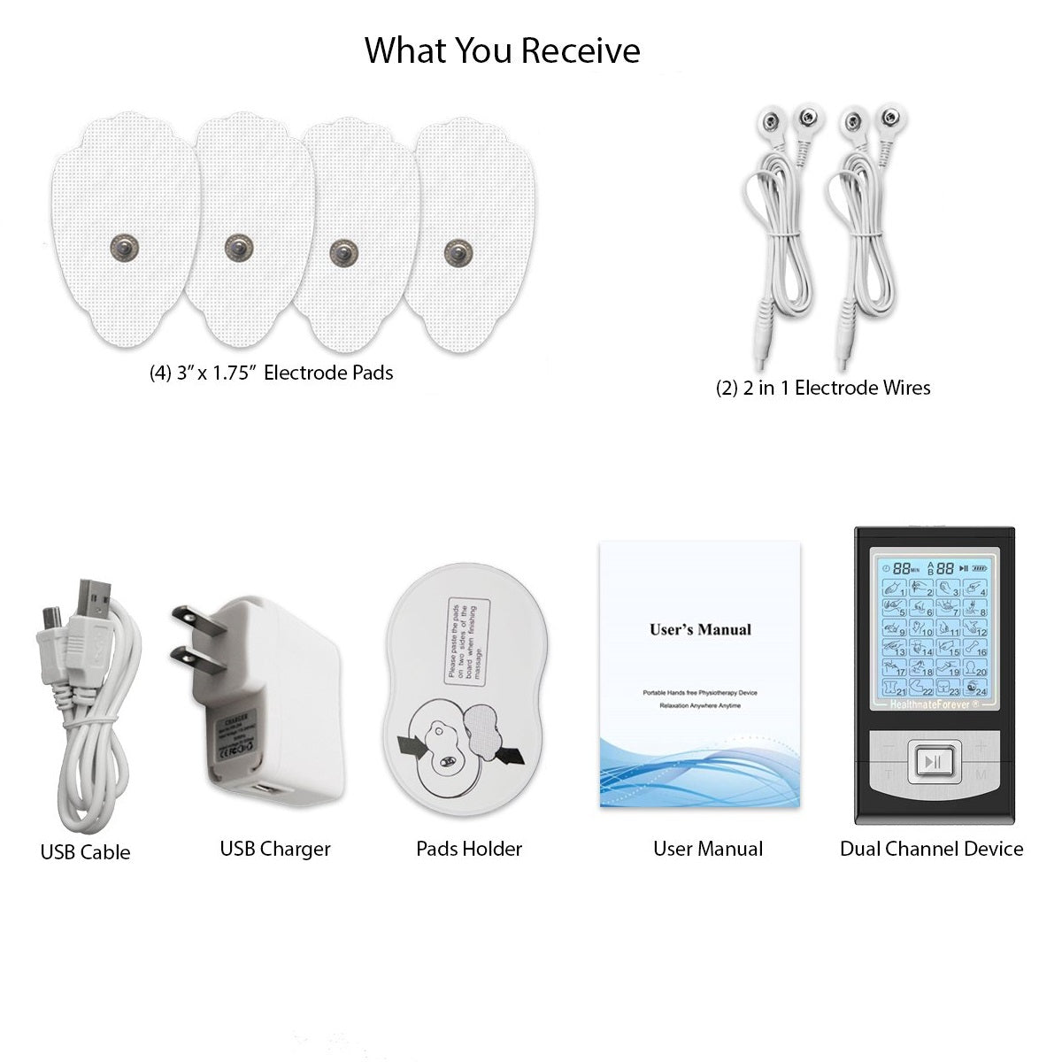 2020 Version 24 Modes NK24AB  TENS unit & Muscle Stimulator - HealthmateForever.com