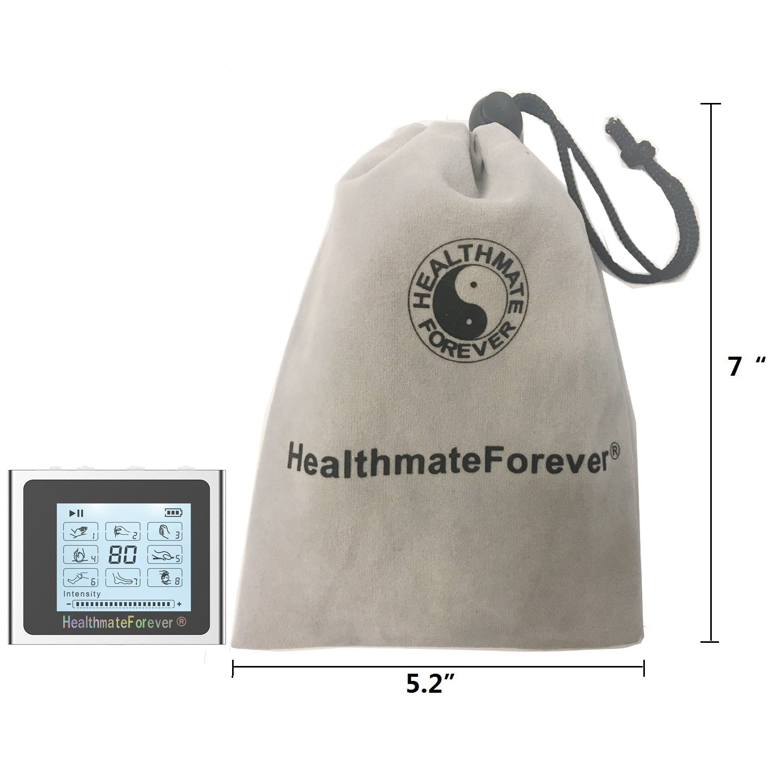 Touch Screen TS8 TENS Unit & Muscle Stimulator - HealthmateForever.com