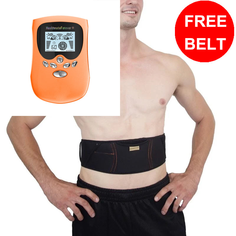 Free Massage Belt + PM8IS TENS Unit & Muscle Stimulator - HealthmateForever.com