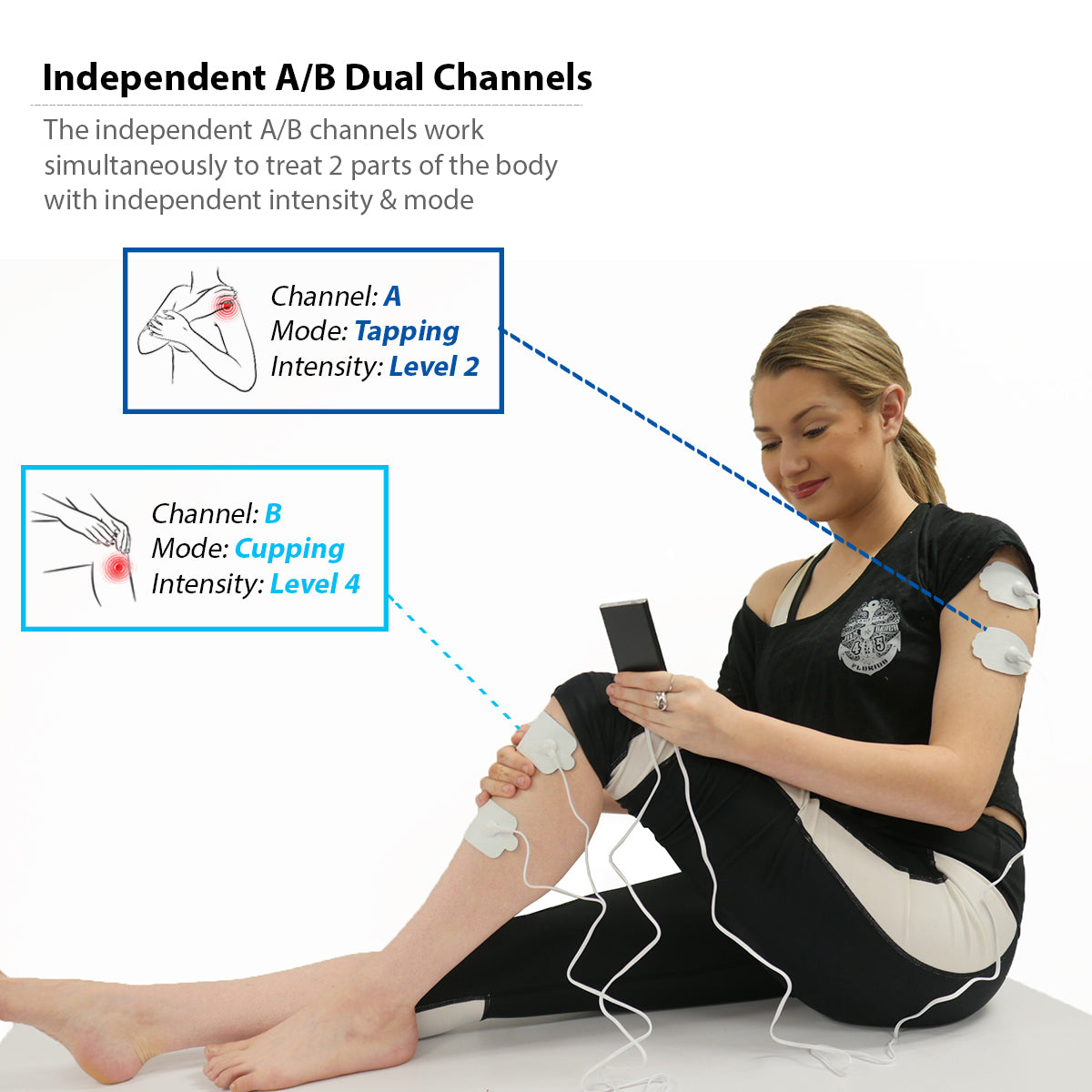 Free Massage Belt + PRO12ABQ Portable Palm Size Electronic Pulse Pain Relief TENS UNIT - HealthmateForever