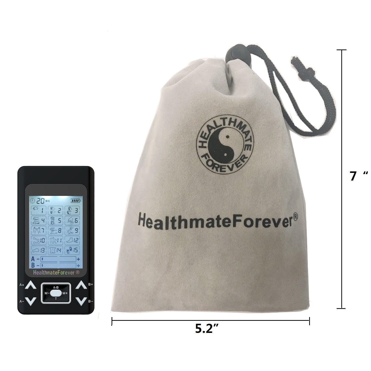 PRO15AB2 Pain Relief TENS Unit & Muscle Stimulator for reconditioning - 2 Year Warranty - HealthmateForever.com