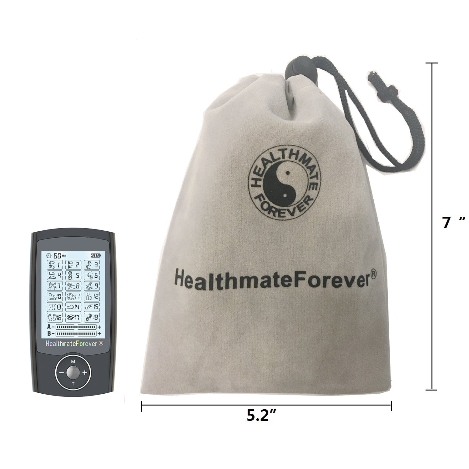 PRO18AB Pain Relief TENS Unit & Muscle Stimulator for reconditioning - 2 Year Warranty - HealthmateForever