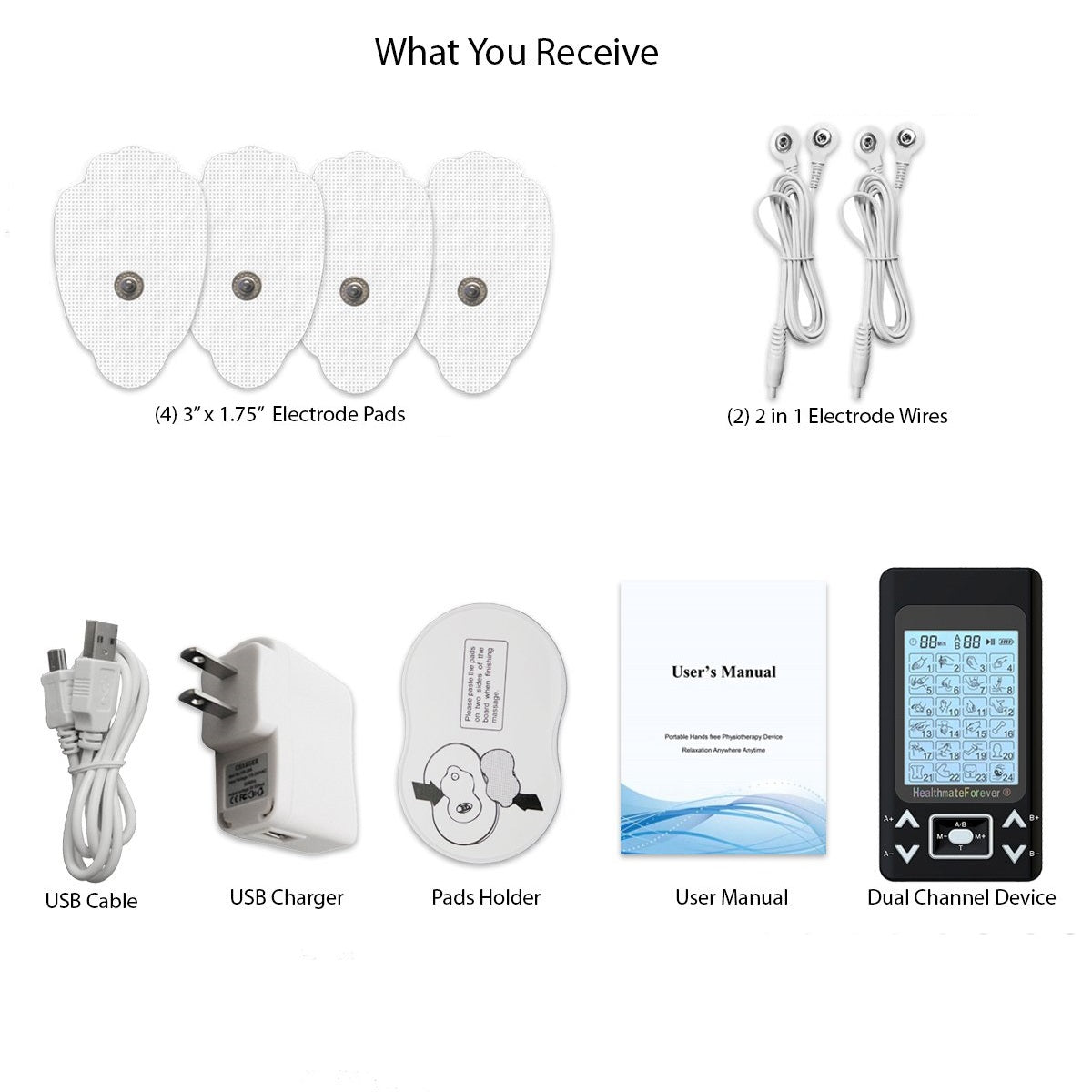 2020 Version 24 Modes PRO24AB2 iSelfCare® TENS unit & Muscle Stimulator - HealthmateForever