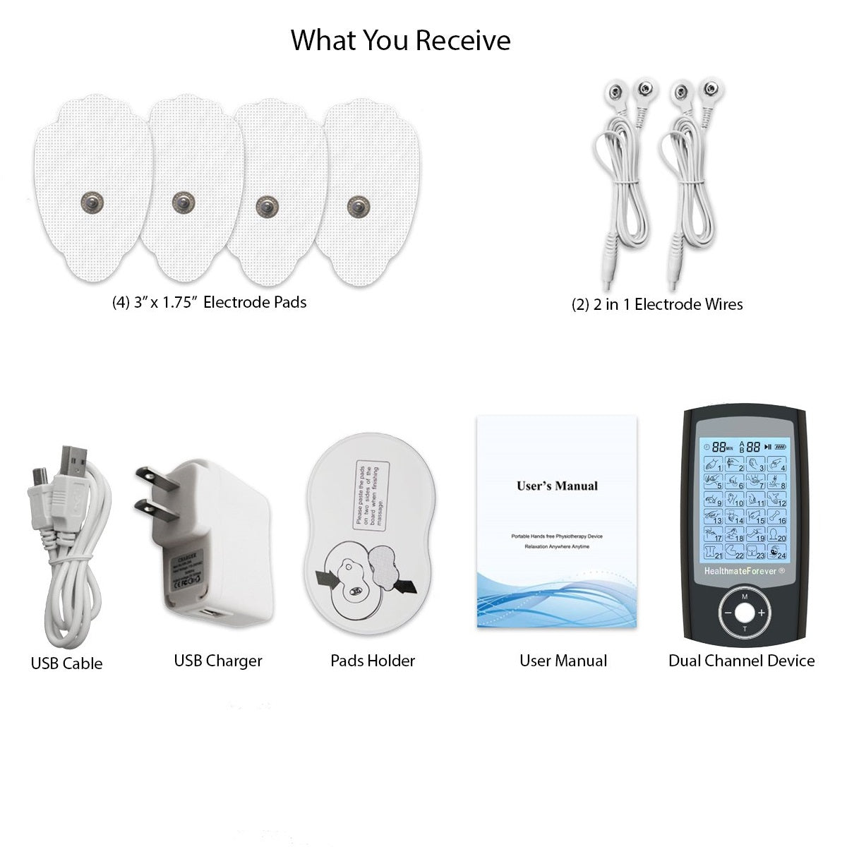 2020 Version 24 Modes PRO24AB iSelfCare® TENS unit & Muscle Stimulator - HealthmateForever