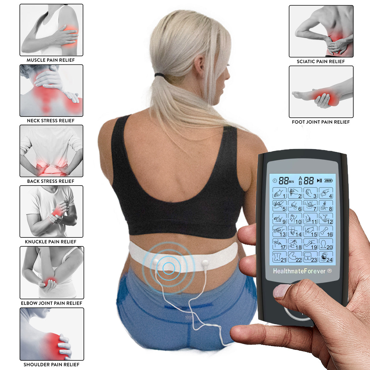 2020 Version 24 Modes PRO24AB TENS unit & Muscle Stimulator