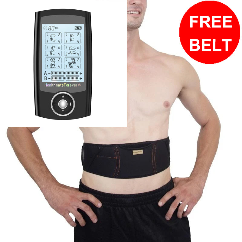 Free Message Belt + PRO6ABS (24 Modes) Best Body Pain Relief TENS UNIT - HealthmateForever